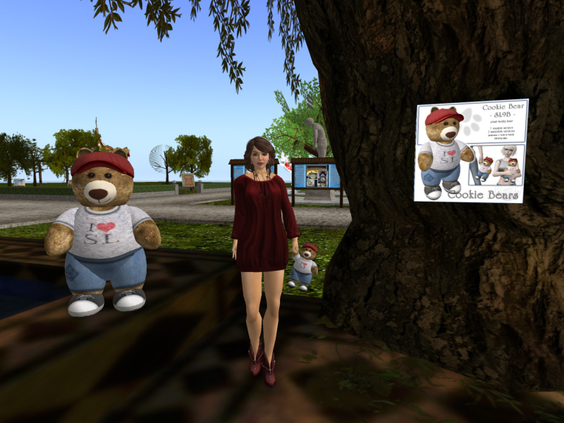 Sway's wonderful SL9B bear and vendor at the Prim Perfect tearoom